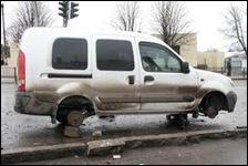 украли колеса